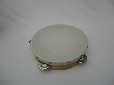 Premier Everplay Tambourine Made In England Musical Instrument Percussion K4