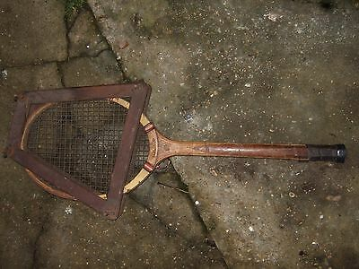 vintage tennis racket alliance with wooden case