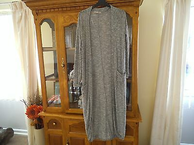 Long Grey Cardigan Size 8 Must See