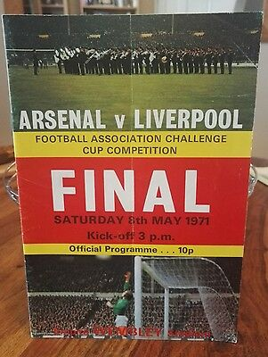 1971 FA CUP FINAL ARSENAL v LIVERPOOL  Programme