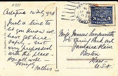 Colombia 1925 Cover  From Cartagena