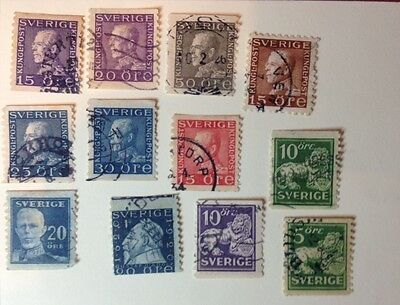 Sweden: Small Lot Various 1920s. Used.