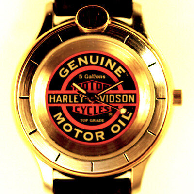Fossil Harley Davidson, Rare Lady 'Motor Oil Harley Davidson' Leather Watch $149