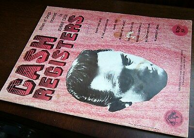 """JOHNNY CASH """"Cash Registers"""" SHEET MUSIC SONG BOOK SONGBOOK 1970"""