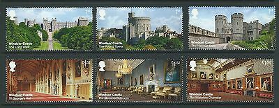Great Britain 2017 Windsor Castle Set Six Singles  Unmounted Mint,mnh