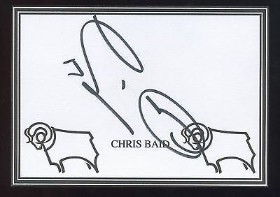 Chris Baid signed Derby crested card.