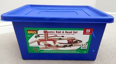 BRIO Wooden Rail and Road Set
