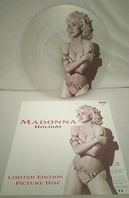 """Madonna 12"""" vinyl picture disc record Holiday '91 UK W0037TP SIRE 1991  All EX"""