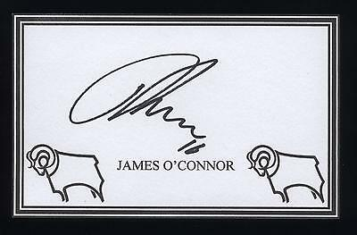 James O'Connor signed Derby crested card.