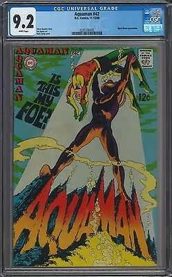 Aquaman #42 CGC 9.2 White Pages 2nd Black Manta Nick Cardy Cover