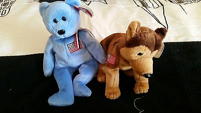 Beanie Babies, Courage  & America September 11 2001 Retires with tags