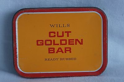 Vintage Will's Cut Golden Bar Tobacco Tin (empty)