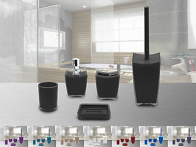 wc garnitur bad garnitur wc set stand toilettenpapierhalter wc b rste klob rste picclick it. Black Bedroom Furniture Sets. Home Design Ideas