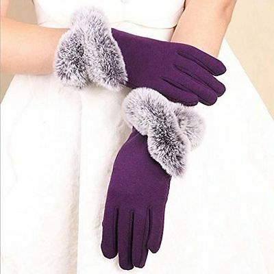 Women's Winter Warm Knit Fashion Elegant Gloves Soft Plush Lining One Size New