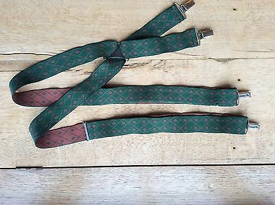 Vintage Braces In Red And Green