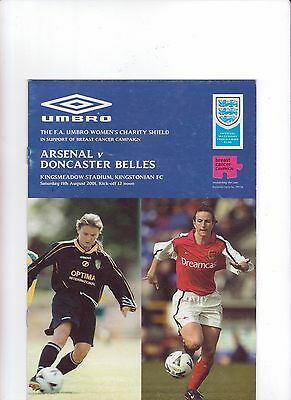 2001  F A  Charity Shield - Arsenal v Doncaster Belles