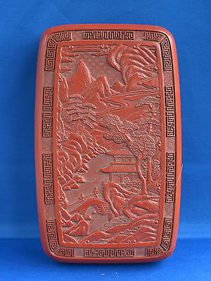 Vintage Chinese Writing Box & Writing Implements Cinnabar ?