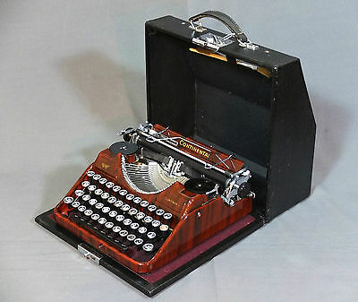 Schreibmaschine Wanderer Continental Rot vintage typewriter VERY GOOD CONDITION!