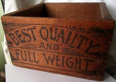 Antique made of Redwood California Fruit Box Crate w/Printing and a Prunes Label