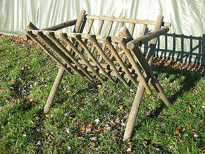 Animal Horse Hay Manger Rustic Wooden