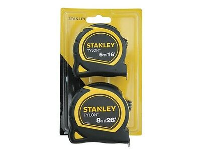 Stanley Tylon Tape Twin Pack 5m/16ft & 8m/26ft
