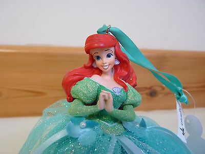 Disney WDW Ariel The Little Mermaid Ball gown Hanging Ornament Christmas USA