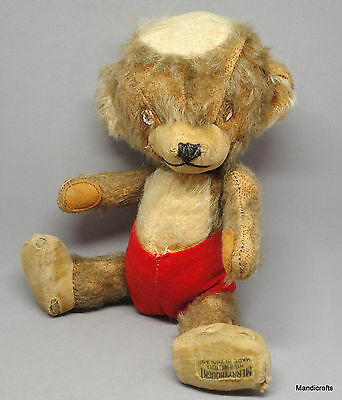 Merrythought UK Punkinhead Teddy Bear Mohair Plush 10in 1950 Eatons Mascot As Is