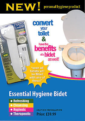 Toilet Bidet Essential Cold Water Seat Spray Cleanser With All Attachment Needed