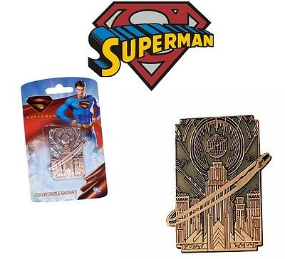 Superman Returns Daily Planet Metal Quality Collectors Badge *new*