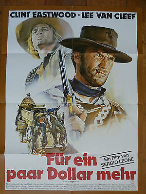 For a Few Dollars More German original poster Clint Eastwood, Sergio Leone