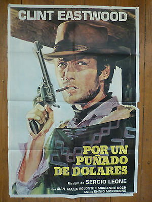 A Fistful of Dollars Original Argentine poster Clint Eastwood, Sergio Leone