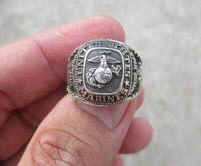 US ARMY MARINES Ring , Echt Silber 925 ,  Gr.50-70 , TOP