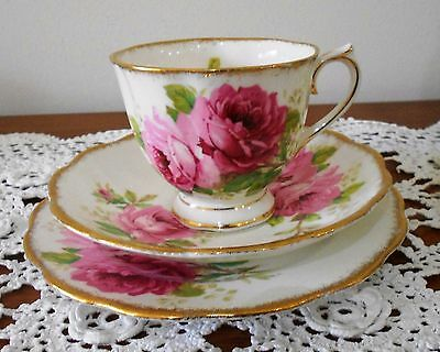 Royal Albert American Beauty Trio Made in England 1940s