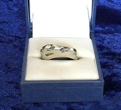 925 Sterling Silver Handmade/Primitive Ring - Solid - 10.10g