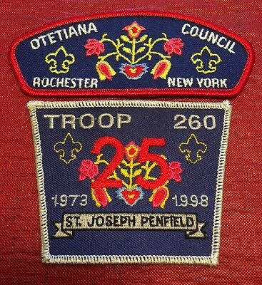 Otetiana Council Rochester NY CSP And Troop 260 Penfield Patch Patches