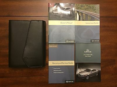 2007 Lexus IS350 IS250 Owners Manual Set With Leather Lexus Case