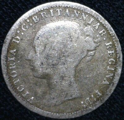 1878 Great Britain Threepence Silver Coin - KM# 730      AD1