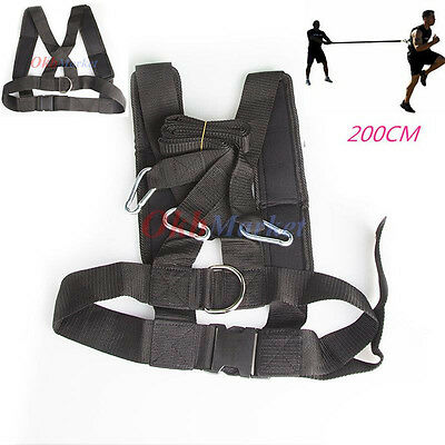 Fitness Pulling Sled Harness Resistance Strap Belt Band Power Speed Sprint Train