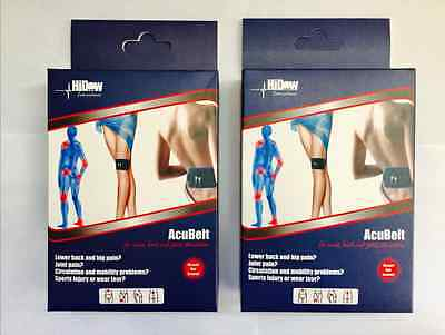 2 LOT HiDow AcuBelt for ALL Massagers & TENS Units Relieves Pain & Sore Muscles
