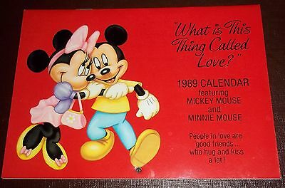 Vintage Disney 1989 calendar Minnie Mickey Mouse Love CAN BE USED FOR 2017