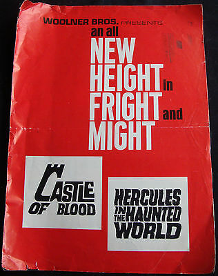 CASTLE OF BLOOD-HERCULES IN THE HAUNTED WORLD press book MARIO BAVA CHRISTOPHER
