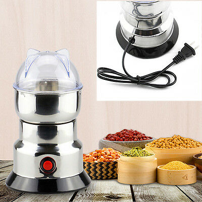 220V Electric Coffee Grinder Spice Bean Semi-Automatic Coffeemaker Kitchen Mill