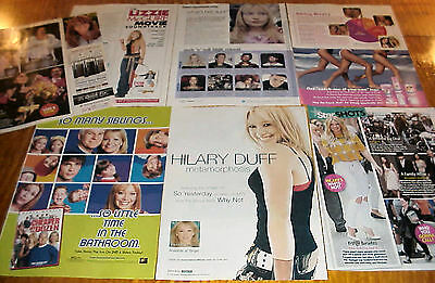 HILARY DUFF CLIPPINGS #1 LIZZIE McGUIRE STAR #090916