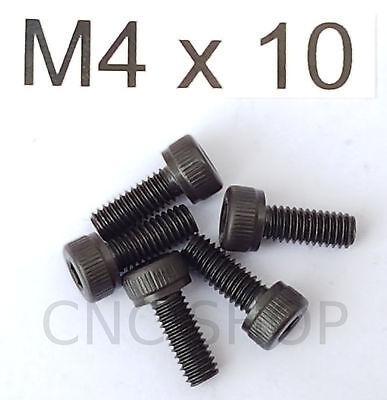 M4 X 10 HARDENED CAP SCREW (5pcs) SOCKET HEAD ALLEN HEX KEY M4X10 CNC DIY PARTS