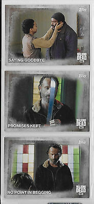 3 2016 Topps AMC Walking Dead Collector Cards #16,17,18