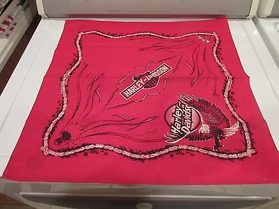 HARLEY DAVIDSON MOTORCYCLES For Bikers Only Bandana RED