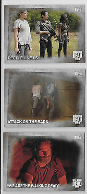 3 2016 Topps AMC Walking Dead Collector Cards #61,62,63