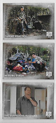 3 2016 Topps AMC Walking Dead Collector Cards #73,74,75
