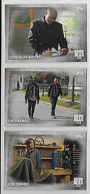 3 2016 Topps AMC Walking Dead Collector Cards #79,80,81