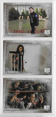 3 2016 Topps AMC Walking Dead Collector Cards #85,86,87